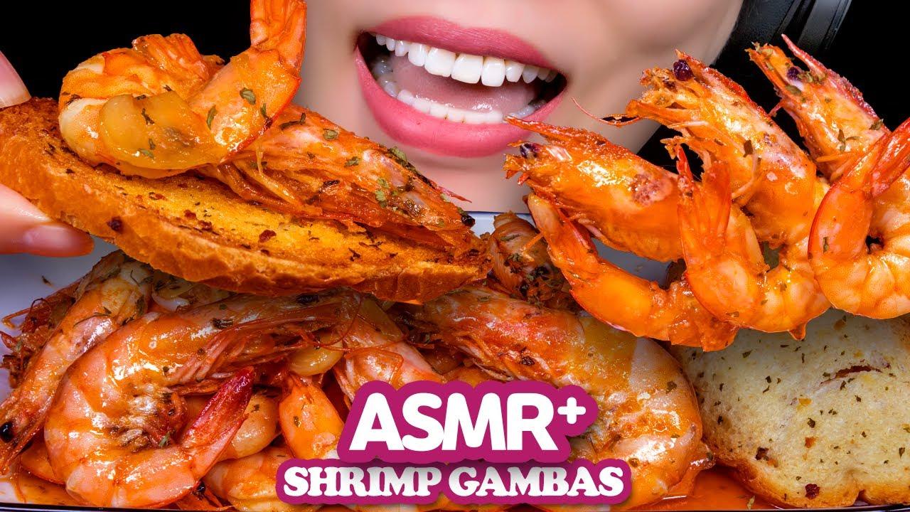 ASMR 올리브에 싱싱한 새우와 마늘 듬뿍 새우감바스 먹방 [REAL EATING SOUNDS] MUKBANG