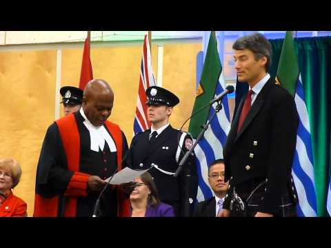 Oath of Office, Mayor Gregor Robertson, 8-Dec-2014