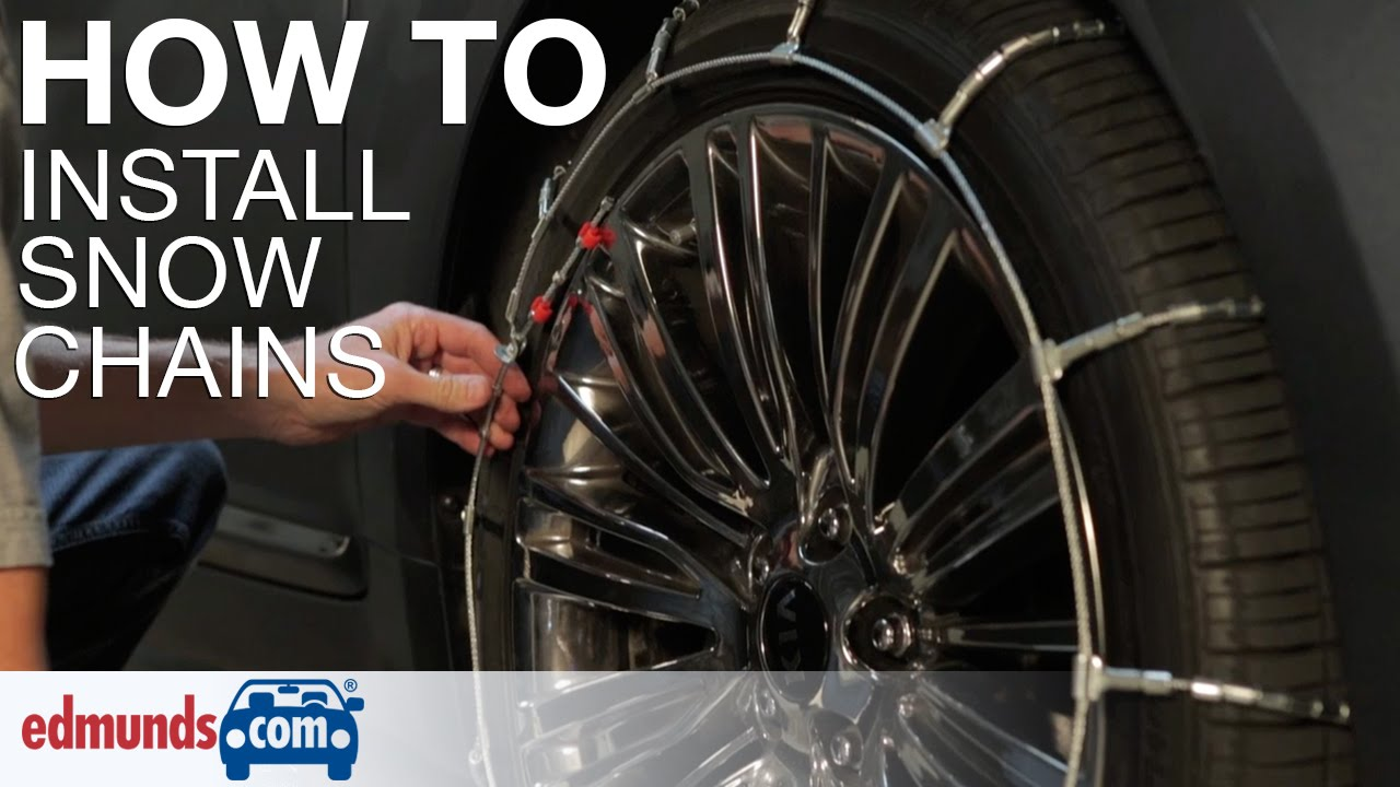 How To Install Snow Chains Youtube
