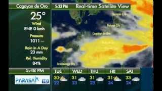 Parasat Weather Update Cagayan de Oro City: September 11, 2012 ( 6 pm )