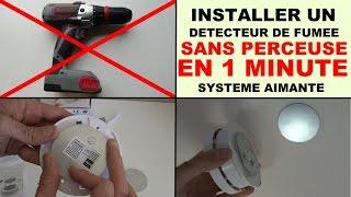 poser un detecteur de fumee sans perceuse avec des aimants elro rmag2
