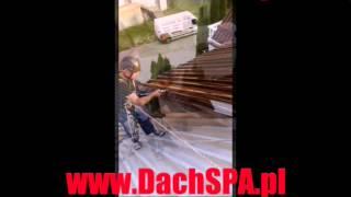 Malowanie dachu alpinistyka przemysłowa