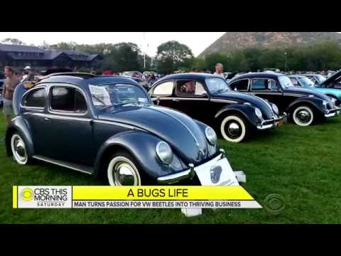 Classic VW BuGs CBS News 2018 Inside the Vallone Vintage Beetle Restoration Shop