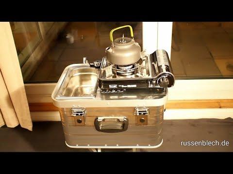 Mini Camping Küche | Interkosmos Feldkueche 2 Mini Camping Kuche In Der Alu Box Youtube