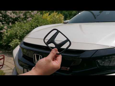 10th Gen Civic Carbon Fiber Front Badge Install