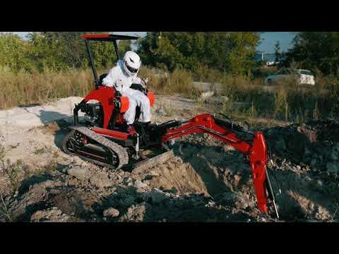 Гусеничный мини экскаватор RED Rhino SE 7522   копаем и планируем