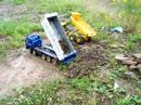 HEAVY RC TIPPER AND DUMP TRUCK! 20KG STONES NO PROBLEM! RC LIVE ACTION TOYS!