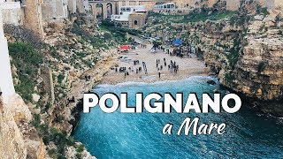 A day in polignano mare, located the region of puglia, southeastern italy. mare is picturesque place, very suitable for trip around ...
