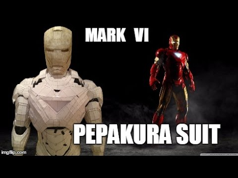 Iron Man MK VI Suit Pepakura