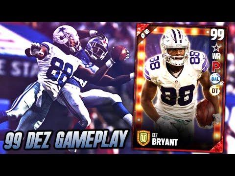 99 Speed Blockbuster Dez Bryant Gameplay Best Wide Receiver In Madden 17 Madden 17 Ultimate Team