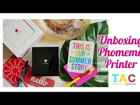 Unboxing And Using Phomemo Pocket Printer