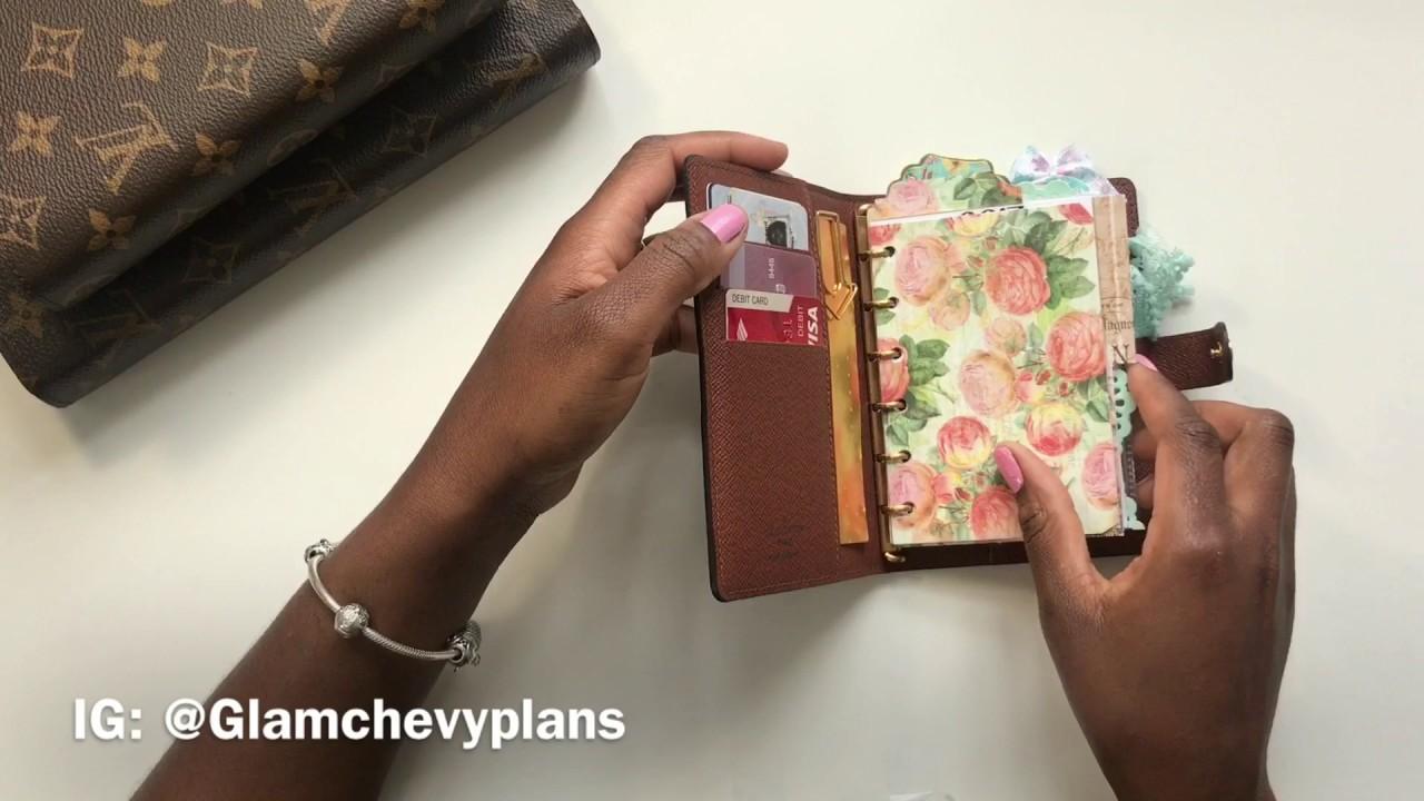 b50f33aee236 Louis Vuitton Agenda PM setup as a wallet - YouTube
