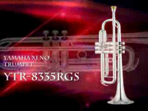 YAMAHA YTR 8335RGS PROFESSIONAL Bb XENO TRUMPET, EXTRA-HEAVY MOUTHPIECE,  SILVER LACQUER FINISH