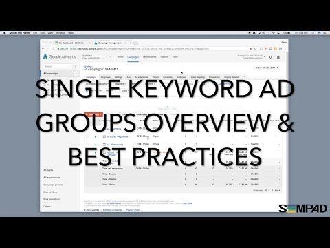 Single Keyword Ad Groups Overview & Best Practices Skags On Adwords And Bing Ads