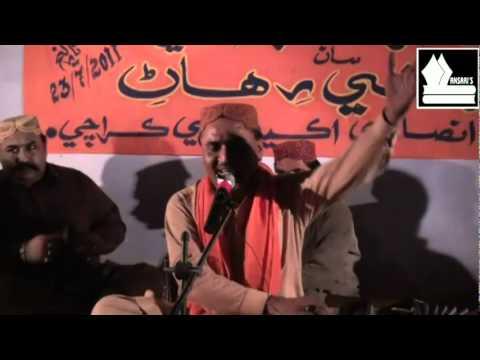Fakeer Muzafar Dayo sings Dadan fakir at Anis Ansari Academy Karachi(23-07-11).mpg