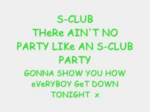 S-Club Party (Lyrics)