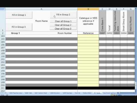 Room Data Sheet Template Version  Demo  Youtube