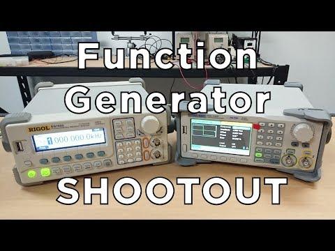 Rigol DS1022 vs Siglent SDG1032X - Function Generator Shootout