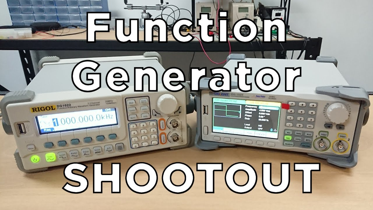 Rigol DS1022 vs Siglent SDG1032X - Function Generator Shootout