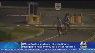 2 UMass-Boston Hockey Players Rollerblading To Michigan To Raise Money For Cancer Research
