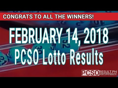 PCSO Lotto Results Today February 14, 2018 (6/55, 6/45, 4D, Swertres, STL & EZ2)