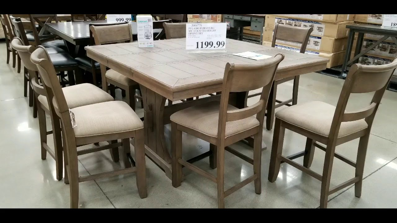 Costco Tables And Chairs Costco Counter Height Dining Tables With 8 Chairs 999 1199