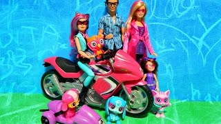 Barbie Spy Squad Secret Agent Doll w/ Motorcycle & Ken Inventor Techbot Pets Deboxing Toy Review