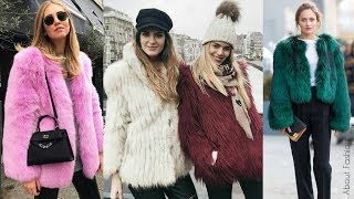 Cómo combinar ABRIGOS DE PELO | Tendencia 2019 Invierno Street Style Moda | OUTFITS peludos