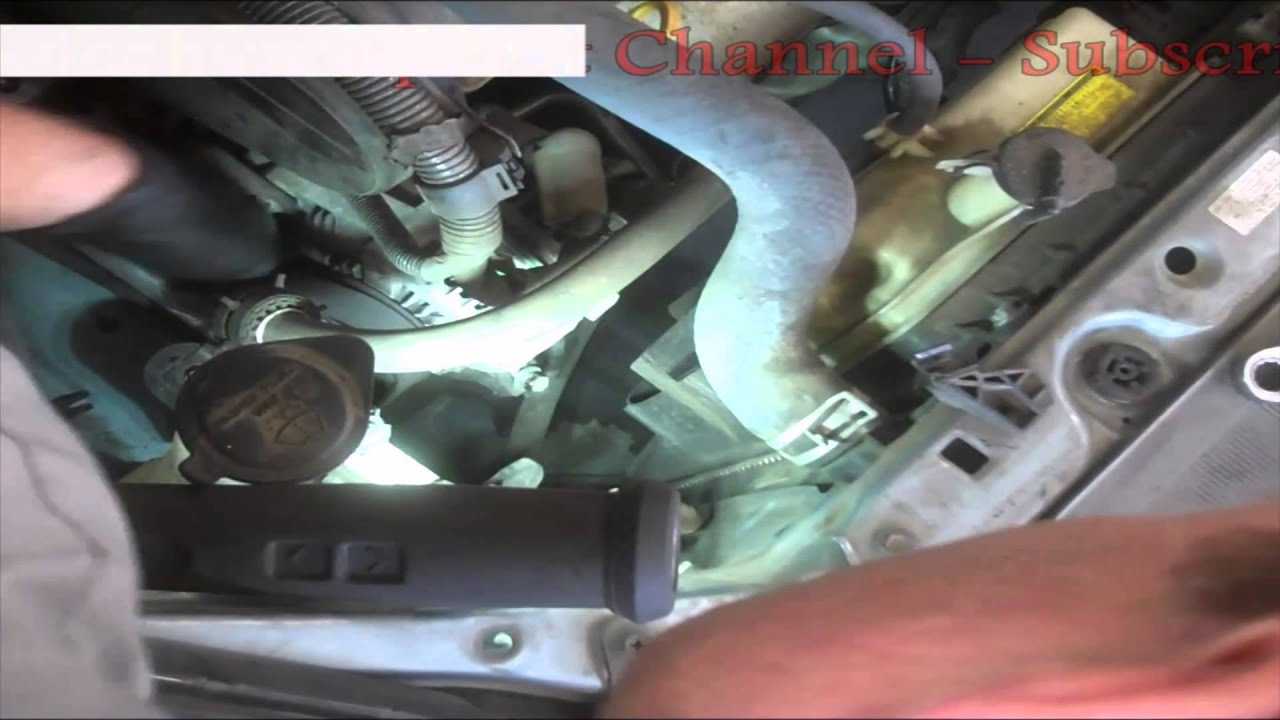 Timing belt replacement Toyota Sienna 2006 3 3L PART 1 Water pump Install  Remove Replace How to