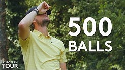 Thomas Pieters tries to make a hole-in-one with 500 balls