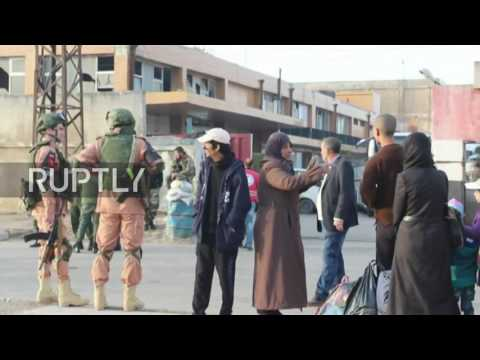 Syria: 2,500 anti-govt. fighters leave Homs as part of evacuation deal