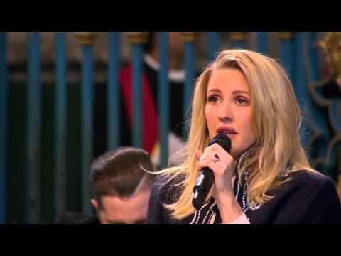 Ellie Goulding singing Fields Of Gold