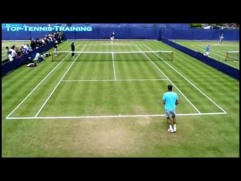 Del Potro-Querrey Training London 2013
