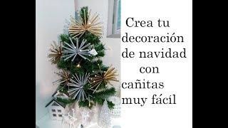 Diy. Crea tu decoración con cañitas o pajitas muy fácil y especial para navidad