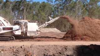 Diamond Z Horizontal Grinder in action for Ausmulch