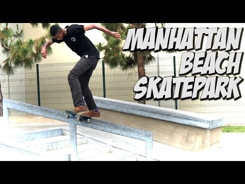 SKATING NEW MANHATTAN BEACH PARK !!! - A DAY WITH NKA -