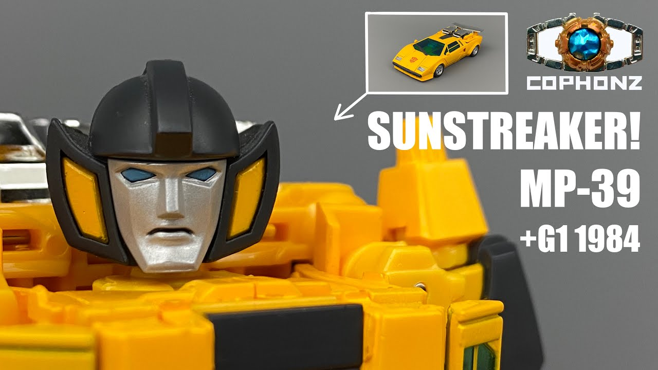 No words review of MP-39 Sunstreaker + G1 1984 cy cophonz