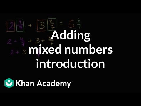 Adding mixed numbers introduction | Fractions | 4th grade | Khan Academy