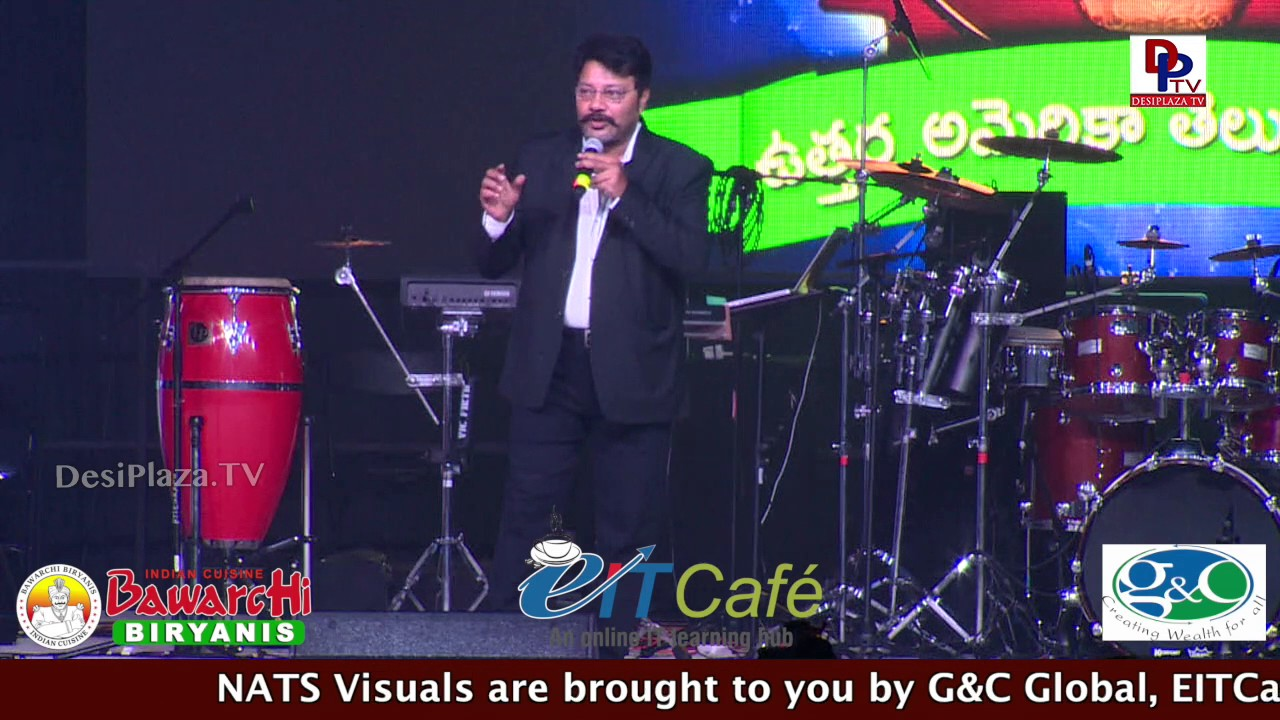 Sai Kumar  Extraordinary  Dialogue Delivery & Speech @ NATS Conference - Chicago