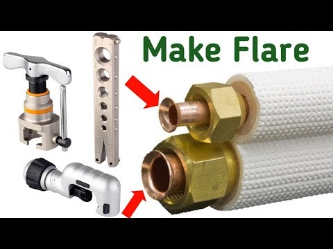 How to make air conditioner copper pipe flare