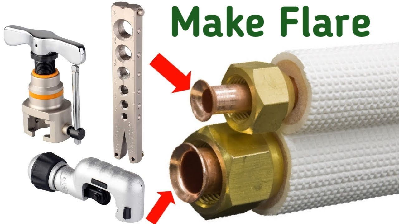 How To Flare and Install Mini Split Copper Line Set – HVAC