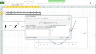 как ... построить график функции в Excel