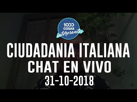 Chat en vivo - 31-10-2018 con Seba Polliotto - Ciudadanía Italiana
