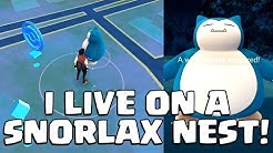 I LIVE ON A SNORLAX NEST | Pokemon GO | Soloing a LEVEL 10 GYM