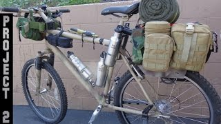 Stealth Bug Out Survival Vehicle-camping Bikepacking Bike-project 2 Phase 2