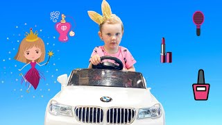 Полина в САЛОНЕ КРАСОТЫ для детей. Pretend play beauty salon for kids