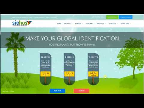 How to register domain & hosting from sichost