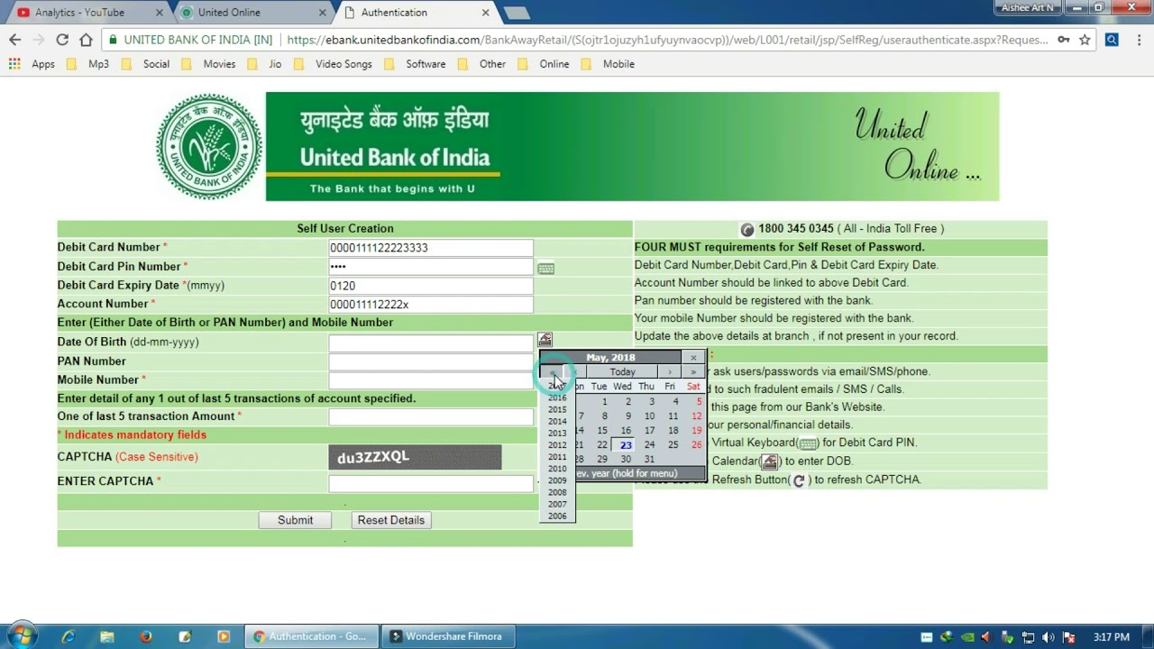 How To Register Internet Banking on United Bank Of India UBI Without Visit  Bank