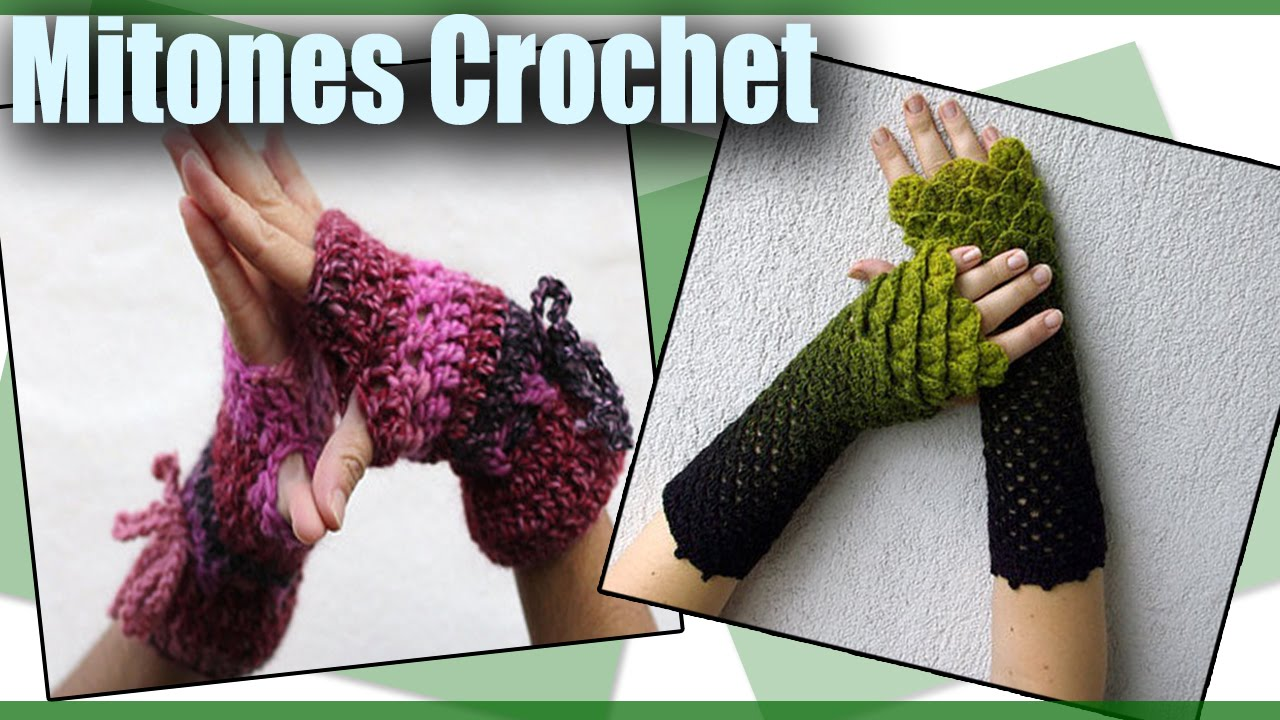 Guantes Mitones - Tejidos a Crochet - Diseños - YouTube