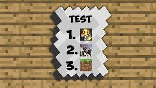 EINEN TEST IN MINECRAFT SCHREIBEN